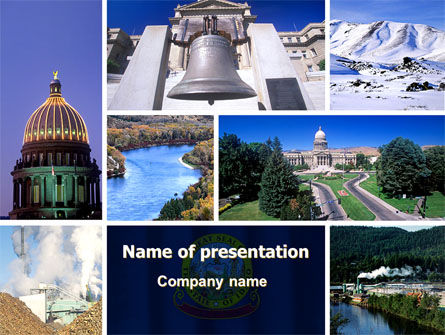 Idaho PowerPoint Template, 06608, Religious/Spiritual — PoweredTemplate.com