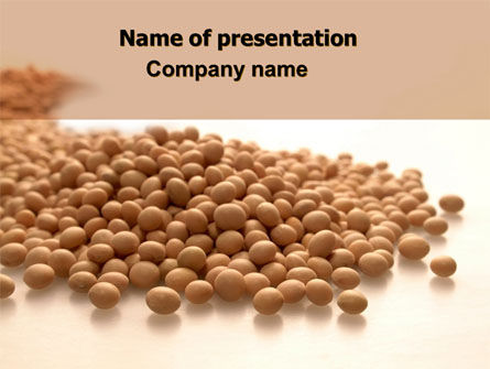 Soy Beans PowerPoint Template, 06609, Agriculture — PoweredTemplate.com