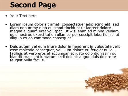 Soy Beans PowerPoint Template, Slide 2, 06609, Agriculture — PoweredTemplate.com