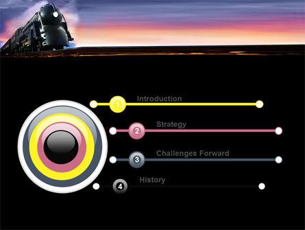 Steam Locomotive PowerPoint Template Slide 3