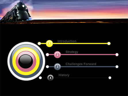 Steam Locomotive PowerPoint Template, Slide 3, 06610, Cars and Transportation — PoweredTemplate.com