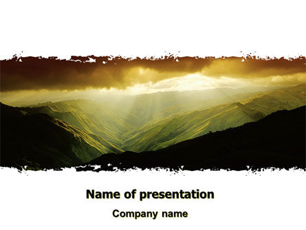 Mountain Look PowerPoint Template, 06611, Nature & Environment — PoweredTemplate.com