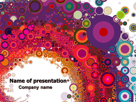 Sixties Paradise Party PowerPoint Template, 06612, Abstract/Textures — PoweredTemplate.com