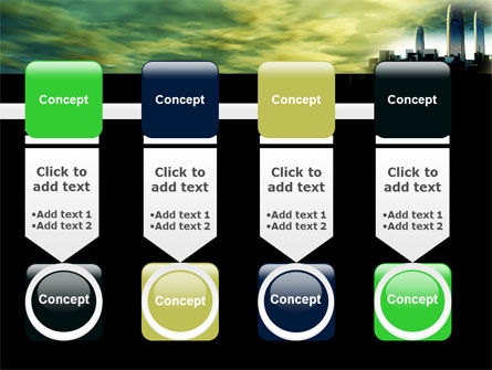 Futuristic Cityscape PowerPoint Template Slide 18