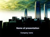 Construction: Modelo do PowerPoint - futurista cityscape #06613