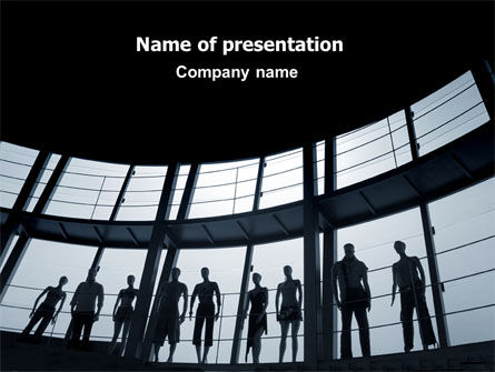Business: Standing Manikins Free PowerPoint Template #06614