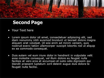 Red Fall PowerPoint Template, Slide 2, 06615, Nature & Environment — PoweredTemplate.com