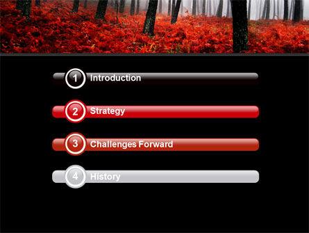 Red Fall PowerPoint Template, Slide 3, 06615, Nature & Environment — PoweredTemplate.com