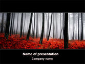 Nature & Environment: Red Fall PowerPoint Template #06615