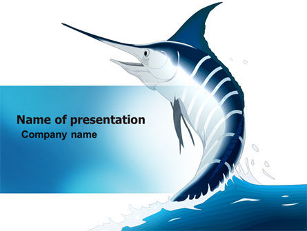 Nature & Environment: Swordfish PowerPoint Template #06617