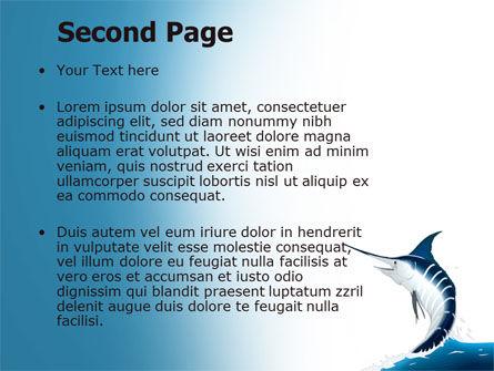 Swordfish PowerPoint Template, Slide 2, 06617, Nature & Environment — PoweredTemplate.com