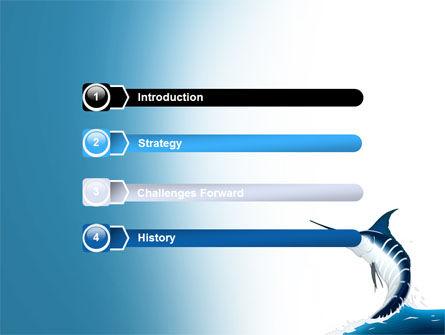 Swordfish PowerPoint Template, Slide 3, 06617, Nature & Environment — PoweredTemplate.com