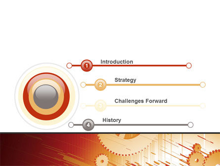Gearwheels Free PowerPoint Template, Slide 3, 06619, Utilities/Industrial — PoweredTemplate.com