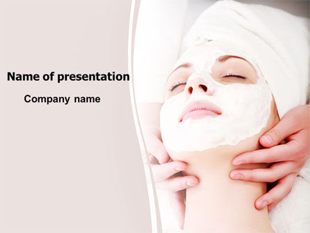 Medical: Face Pack PowerPoint Template #06620