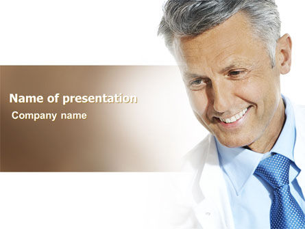 People: Doctor Smile PowerPoint Template #06623