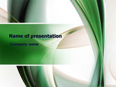 Abstract/Textures: Green with Beige PowerPoint Template #06625
