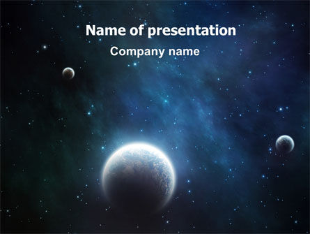 Technology and Science: Deep Space PowerPoint Template #06627