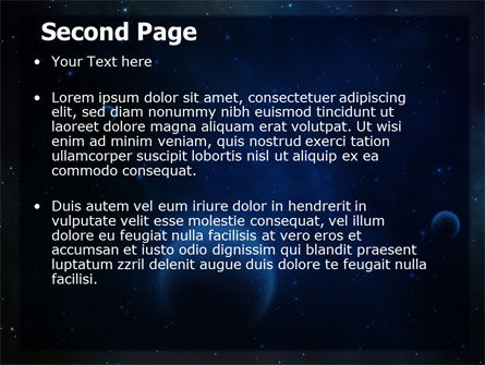 Deep Space PowerPoint Template, Slide 2, 06627, Technology and Science — PoweredTemplate.com