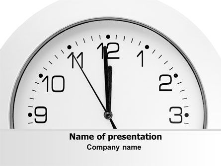 Seconds Before Noon Free PowerPoint Template, 06628, Business — PoweredTemplate.com
