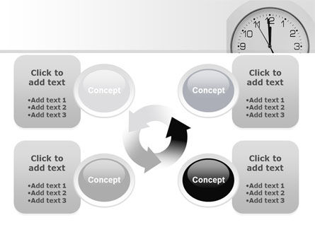 Seconds Before Noon Free PowerPoint Template Slide 9