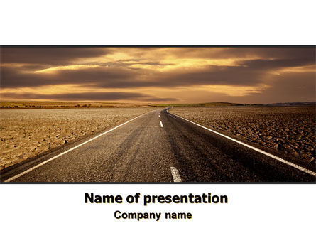 Cars and Transportation: Highway In Sepia PowerPoint Template #06629