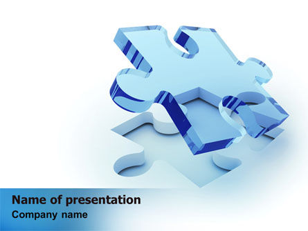 Blank Jigsaw PowerPoint Template, 06631, 3D — PoweredTemplate.com
