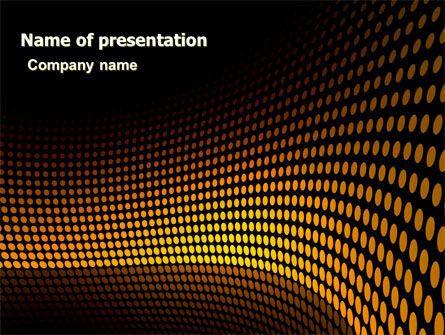 Yellow Lattice PowerPoint Template, 06632, Abstract/Textures — PoweredTemplate.com
