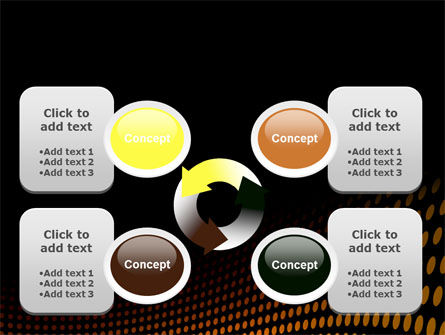 Yellow Lattice PowerPoint Template Slide 9