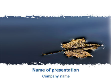 Nature & Environment: Herfstblad PowerPoint Template #06633