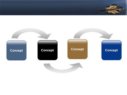 Autumn Leaf PowerPoint Template, Slide 4, 06633, Nature & Environment — PoweredTemplate.com