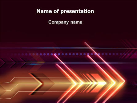 Neon Orange Arrow PowerPoint Template, 06634, Abstract/Textures — PoweredTemplate.com