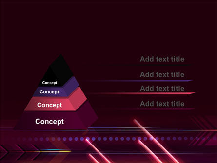 Neon Orange Arrow PowerPoint Template Slide 12