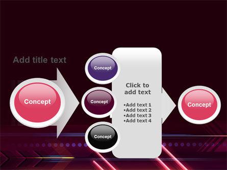 Neon Orange Arrow PowerPoint Template Slide 17