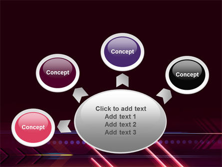 Neon Orange Arrow PowerPoint Template Slide 7