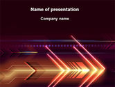 Abstract/Textures: Neon Orange Arrow PowerPoint Template #06634