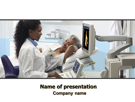 Medical: Echo-onderzoek PowerPoint Template #06635
