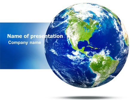 World Globe PowerPoint Template, 06636, Global — PoweredTemplate.com