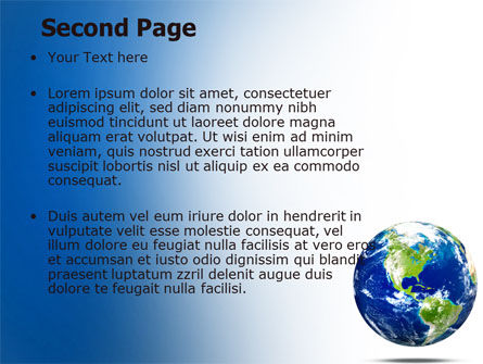 World Globe PowerPoint Template, Slide 2, 06636, Global — PoweredTemplate.com