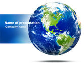 Global: World Globe PowerPoint Template #06636