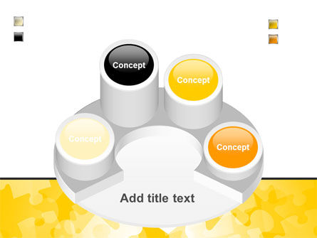 Yellow Jigsaw Theme PowerPoint Template Slide 12