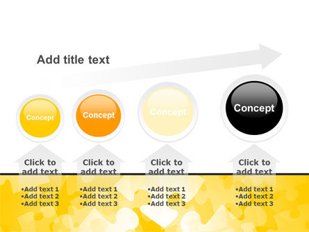 Yellow Jigsaw Theme PowerPoint Template Slide 13