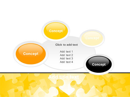 Yellow Jigsaw Theme PowerPoint Template Slide 16