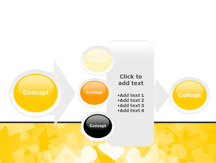 Yellow Jigsaw Theme PowerPoint Template Slide 17