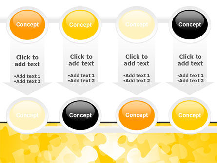 Yellow Jigsaw Theme PowerPoint Template Slide 18