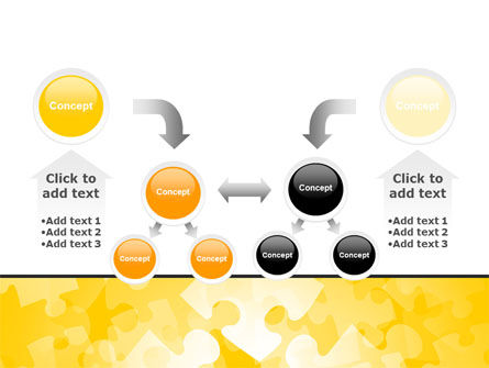 Yellow Jigsaw Theme PowerPoint Template Slide 19