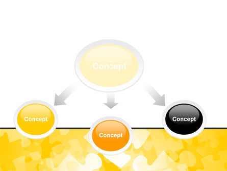 Yellow Jigsaw Theme PowerPoint Template Slide 4