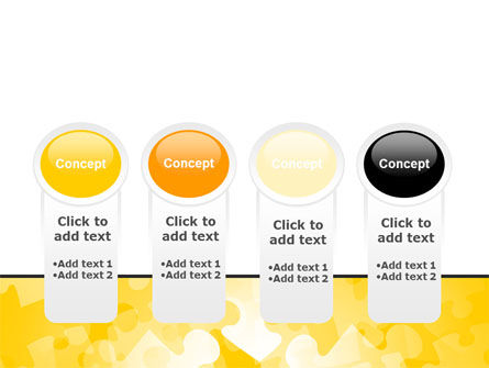 Yellow Jigsaw Theme PowerPoint Template Slide 5