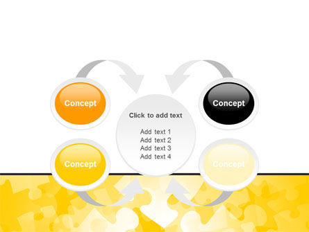 Yellow Jigsaw Theme PowerPoint Template Slide 6