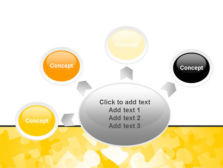 Yellow Jigsaw Theme PowerPoint Template Slide 7