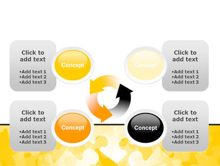 Yellow Jigsaw Theme PowerPoint Template Slide 9